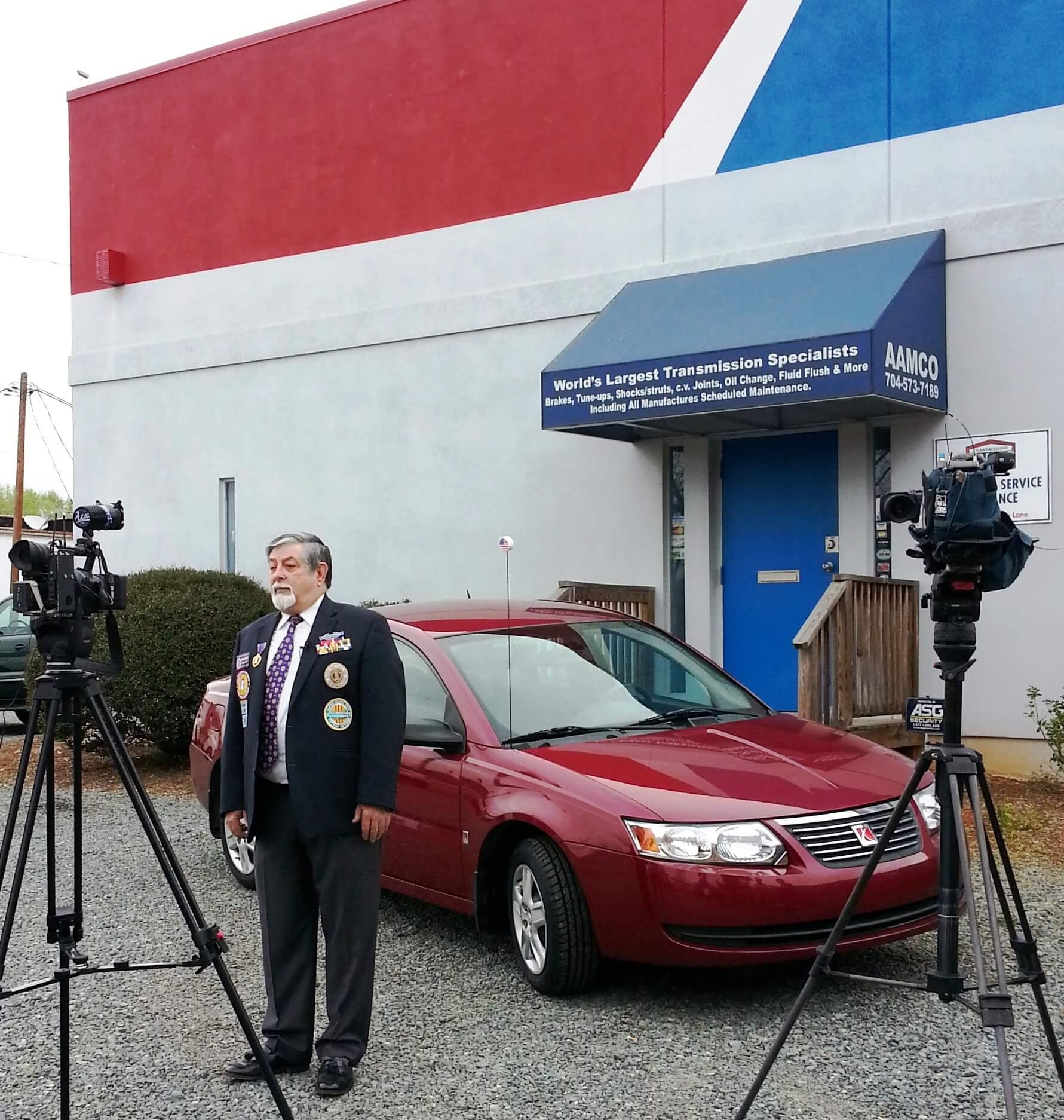 AAMCO of Charlotte Repairs Local Army Veteran's Car