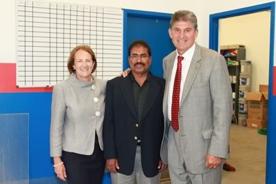 AAMCO Morgantown WV owner Ismail Latif, Karen Mills, Senator Joe Manchin