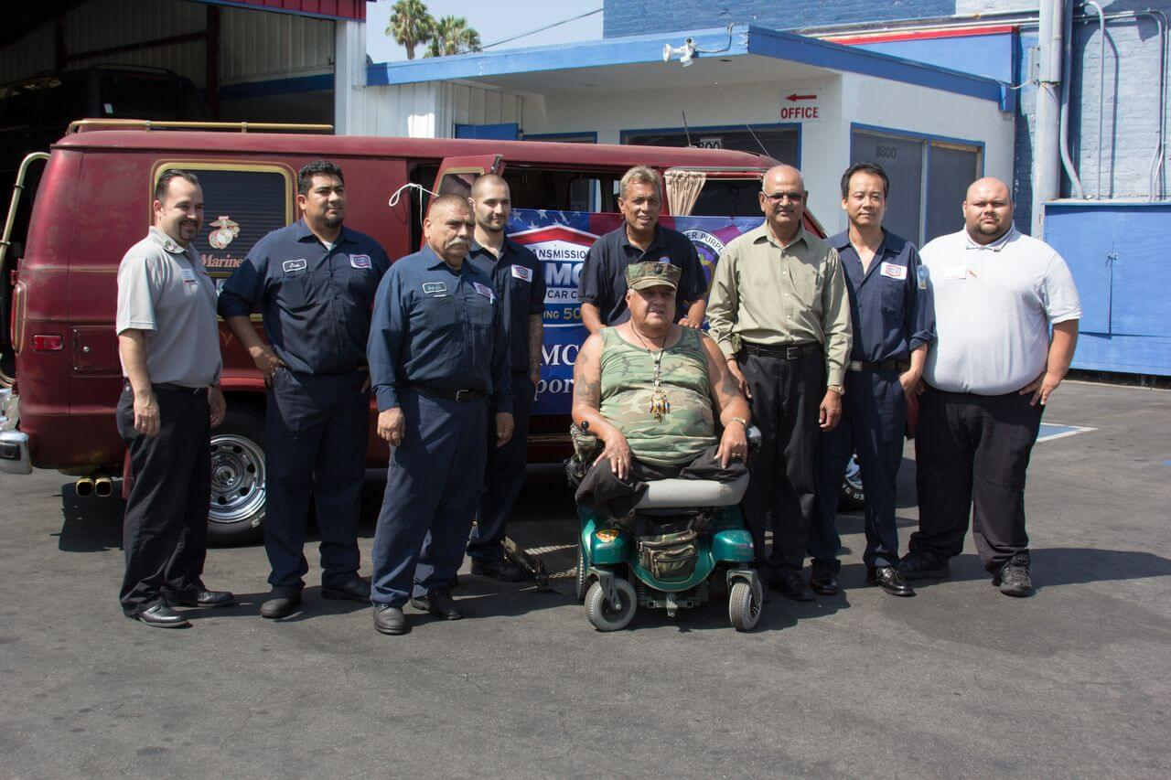Los Angeles Vietnam War Veteran Enjoys Free Auto Repairs from Local AAMCO Center