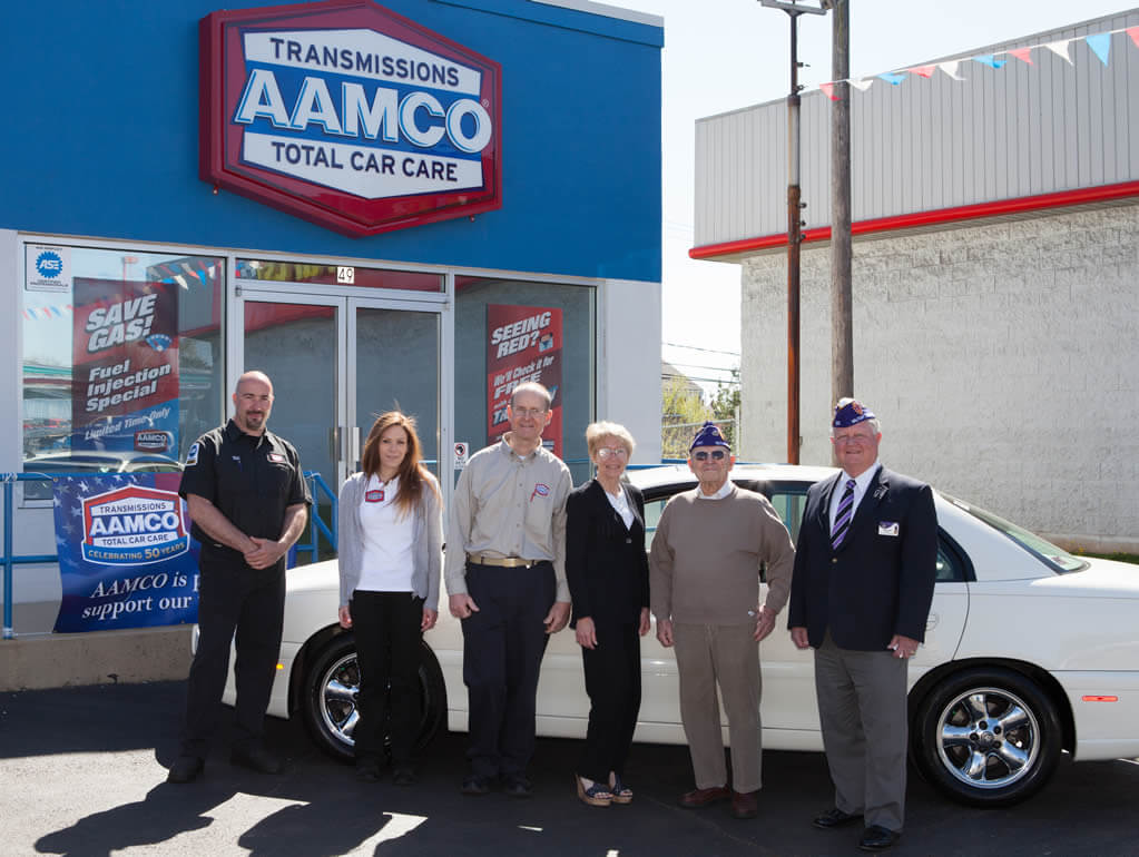 "WW2 Veteran from Allentown Receives Free Car Repairs from AAMCO of Quakertown as ""50 Cars in 50 States"" Reaches Pennsylvania"