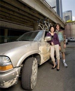 Couple with 4 wheel drive vehicle