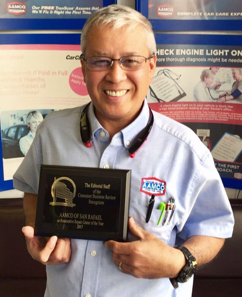 "AAMCO Franchise of San Rafael Receives ""Automotive Repair Center of the Year"" Award"