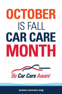 October fall car care month banner